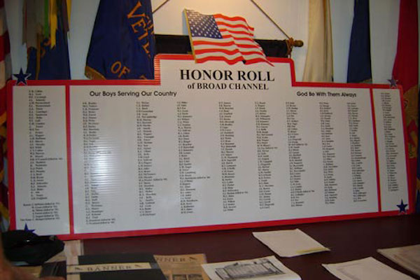 WWII Broad Channel Honor Roll